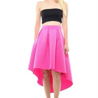 Scuba Fabric High And Low Skirt