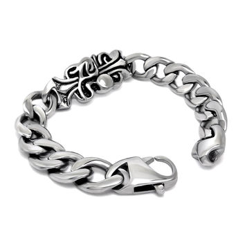 Great Deal Shiny Hot Sale New Arrival Awesome Gift Vintage Cross Men Titanium Ring Strong Character Stylish Bracelet [6526712195]