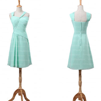 bridesmaid dresses, cute bridesmaid dress, mint bridesmaid dress, short bridesmaid dresses, chiffon bridesmaid dresses, bridesmaids dress
