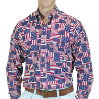 American Flag (Sport Shirt) - Fraternity Collection
