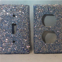 Glittered Switch plate & Outlet Cover Combo Pack