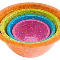 Confetti Bowl Set Recycled Melamine in Brights
