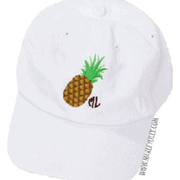 Marley Lilly Pineapple Baseball Hat | Custom Cap | Marley Lilly