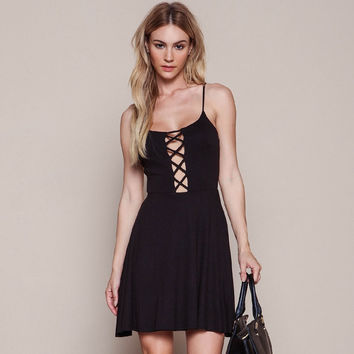 Sexy Backless Beach Spaghetti Strap One Piece Dress [5024166148]