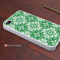 iphone 4 case iphone 4s case iphone 4 cover green style classical  illustrator flower graphic design printing