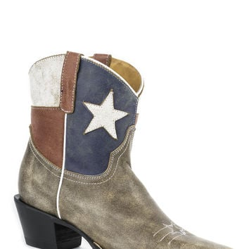 Roper Ladies Flags Boots Star Boot Snip Toe 7 Shaft Snip Toe Toe