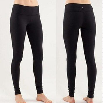 Lululemon Solid Color Running Stretch Gym Sport Pants Trousers Leggings Sweatpants