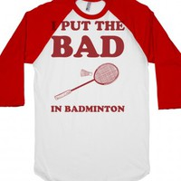 Bad-Unisex White/Red T-Shirt