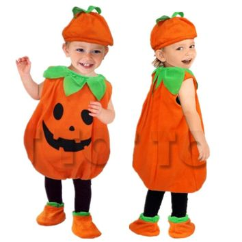 Halloween Party Costumes Toddler Baby Pumpkin Costume Cosplay for Baby Girl Boy Fancy Dress 80-150cm