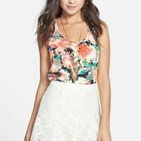 Lush Lace Pleated Skirt (Juniors) (Online Only)