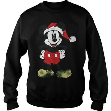 Merry christmas Mickey mouse shirt Sweat Shirt
