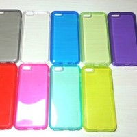 For Apple iPhone 5c Transparent TPU Soft Silicone case
