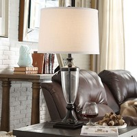 HomeVance Deleon Table Lamp (Black)