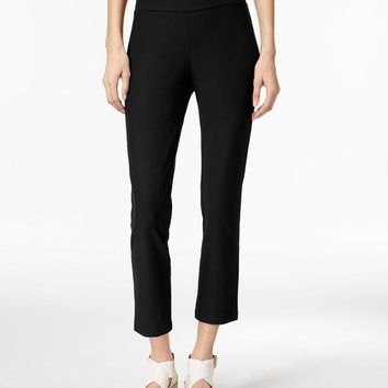 CREYON EILEEN FISHER WASHABLE STRETCH CREPE CROPPED PANTS