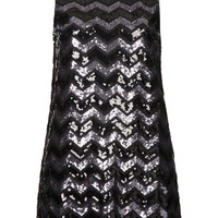 **HIGH NECK ZIG ZAG SEQUIN DRESS BY OH MY LOVE