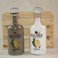 Bacardi Pineapple Salt and Pepper Shaker, Upcycled Liquor Bottles