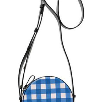 Checked leather shoulder bag | DIANE VON FURSTENBERG | Sale up to 70% off | THE OUTNET