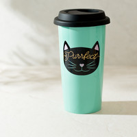 Purrfect Cat Mint Coffee Tumbler