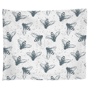 Grunge Bees Tapestry