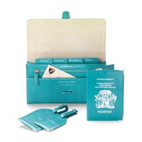 Classic UK Travel Collection in Turquoise Lizard & Smooth Turquoise