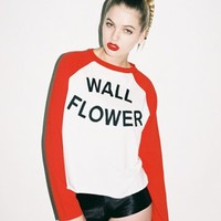 Lazy Oaf | Lazy Oaf | Wallflower Baseball T-shirt