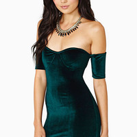 Green Off Shoulder Bodycon Mini Dress