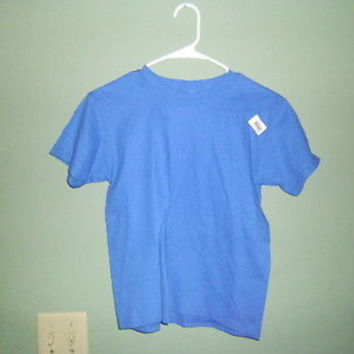 GILDON 100% COTTON EVERY DAY YOUTH BLUE T-SHIRT size S youth