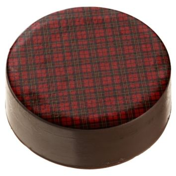 Adorable Red Christmas tartan Chocolate Covered Oreos by PLdesign