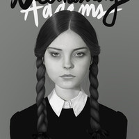 Wednesday Addams Art Print by Albert Lee