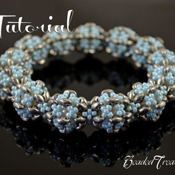 Frozen Dream - superduo bead pattern, beaded bracelet pattern, seed beads / TUTORIAL ONLY