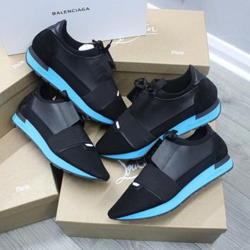 ca spbest Balenciaga runner black/blue mens