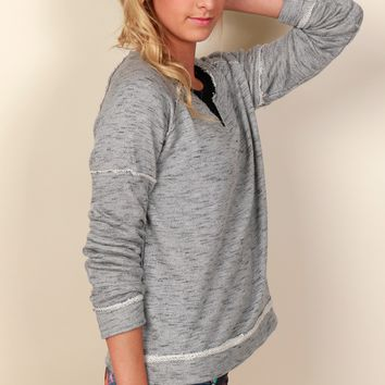 Basic Terry Knit Top Grey