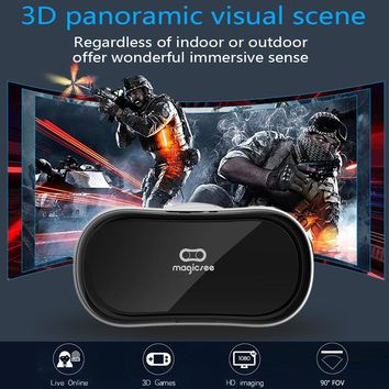 Magicsee M1 All in one VR Glasses Virtual Reality 3D Glasses 1080P 3D Movie Game WiFi HDMI Port  TF Card Slot Video Glasses