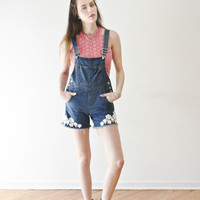 Floral Lace Overalls