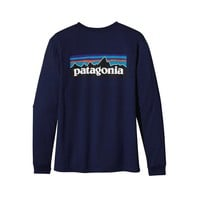 Patagonia Men's Long-Sleeved P-6 Logo Organic Cotton T-Shirt