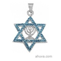 Wonderful Combination Of Star Of David And Menorah