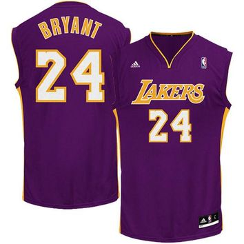 Youth Los Angeles Lakers Kobe Bryant adidas Purple Replica Road Jersey