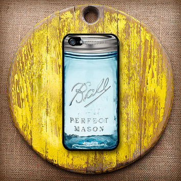 Crafty Ball Jar Case in Blue, Pink, Purple or Green! Choose iPhone 4/4s, 5/5s or 5c.