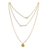 Layering Long Chain Necklace Fashion Jewelry