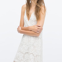 Strappy guipure lace dress