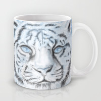 Ethereal White Tiger Mug by Susaleena