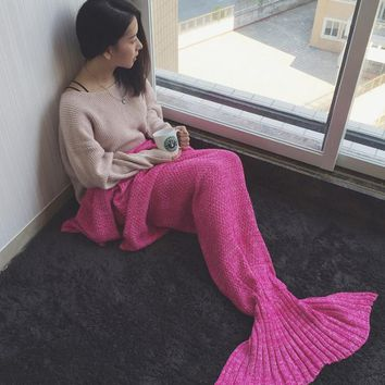 Mermaid tail blanket knitted blanket