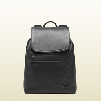 Gucci - black leather backpack 322061A7MRN1000