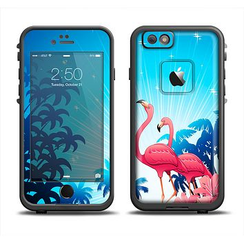 The Vibrant Pelican Scenery Apple iPhone 6 LifeProof Fre Case Skin Set