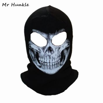 Winter Skull Mask Balaclava Beanies Hats Men Ghost Skull Full Face Mask out door Hood Beanie Gorros Hombre Casquette