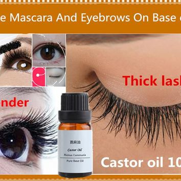 100%Cold Pressing Zero Pure Castor essential oils Eyelashes Eye Brows Hair Growth Face Skin Care Hand Soap Material Body Massage