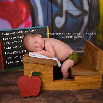 PJ's Desk Newborn Prop with apple accessory photography prop