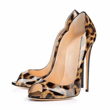 Royal peep toe carve heels