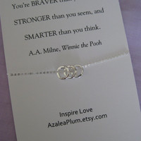Sister Jewelry// Mother Daughter Jewelry // Inspirational // Delicate Sterling Silver // Graduation Gift // Granddaughter // Best Friend