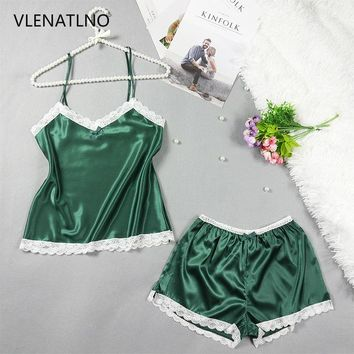 Womens Pajamas Lace Women Pajamas Set Clothing for Women Homewear Indoor Clothing Lady lovely Cute pajamas for women's Sleepwear
